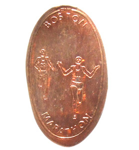 Boston Marathon Runners Elongated Penny Wheat Penny