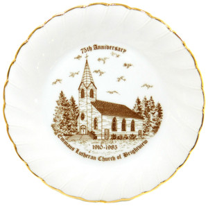 Vintage 1985 Emmaus Lutheran Church of Brightview 75th Anniversary Collector Plate