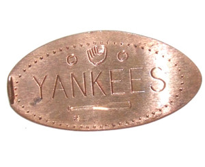 New York Yankees Baseball Elongated Penny Canadian Coin