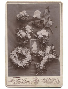 Antique Memorial Cabinet Card Photograph Baby Funeral - Jamestown, NY