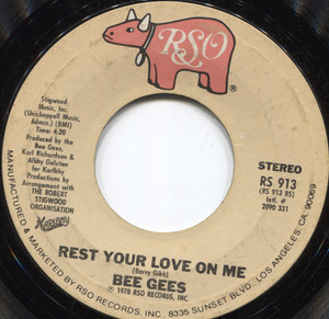 The Bee Gees: Rest Your Love on Me / Too Much Heaven -  45 rpm Vinyl Record