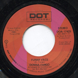 Donna Fargo: How Close You Came (To Being Gone) / Funny Face - 45 rpm Vinyl Record