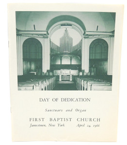 1966 Vintage Day Dedication Sanctuary & Organ First Baptist Church Jamestown NY