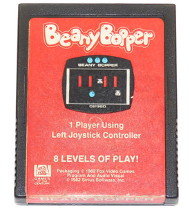 Beany Bopper Scarce Early Label Variant Vintage Atari 2600 Video Game Cartridge