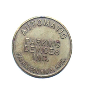 Automatic Parking Devices Inc. Farmington Hills, Michigan Parking Meter Token Coin