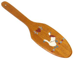 Retro Vintage Decorative Wooden Butter Paddle with Hand-Painted Geese