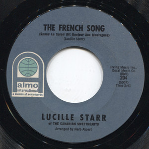 Lucille Starr: The French Song / Sit Down and Write a Letter to Me - 45 rpm Vinyl Record