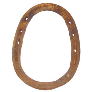 Antique Primitive Rusty Antique Steel Horseshoe Good Luck Horse Shoe Decoration