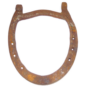 Antique Rusty Primitive Antique Steel Horseshoe Good Luck Decorative Horse Shoe