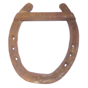 Antique Good Luck Horse Shoe Authentic Farm Used Horseshoe Rusty Industrial Farmhouse Decoration