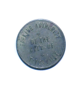 Old Brass Parking Meter Token from Titusville, Pennsylvania