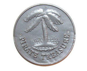Vintage Thomas Too 5000 Murads Pirate Treasure Plastic Premium Coin