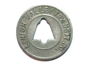 Vintage Lehigh Valley Transit Co. Fare Token - Allentown, PA