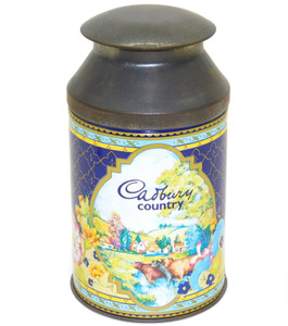Vintage Cadbury Country Miniature Milk Can Shaped Advertising Tin Canister