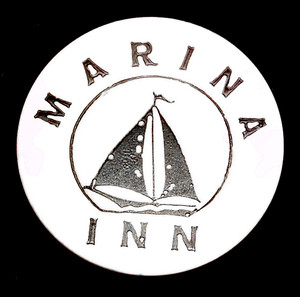 Vintage Marina Inn Plastic Beer Chip Drink Token Advertising Coin - Erie, PA