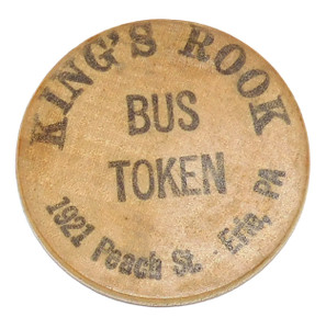 Vintage King's Rook Bus Token Beer Chip Drink Advertising Coin Erie, PA