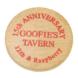 Vintage Goofie's Tavern Beer Chip Drink Token Advertising Coin - Erie, PA