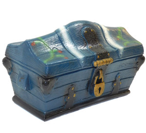 1965 Vintage Silvestri Bros. Chalkware Pirate Treasure Chest Trunk Change Bank