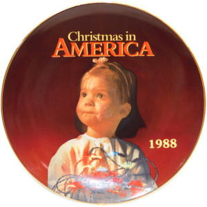 1988 Vintage K-Mart Christmas in America Limited Edition Collector Plate