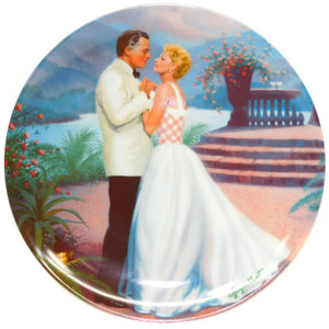 1987 Vintage Elaine Gignilliat South Pacific Some Enchanted Evening Limited Edition Knowles Collector Plate