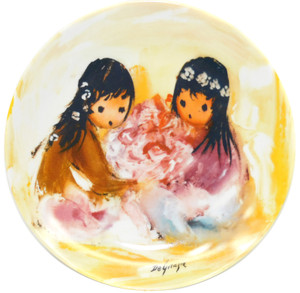 1987 Vintage Ettore Ted De Grazia Spring Blossoms Limited Edition Knowles Collector Plate