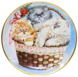 1991 Vintage Franklin Mint K. Duncan Three Little Kittens Limited Edition Collector Plate