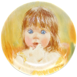 1985 Vintage Frances Hook Legacy Fascination Limited Edition Knowles Collector Plate