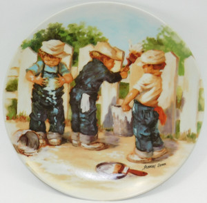 1985 Vintage Jeanne Down A Coat of Paint Knowles Limited Edition Collector Plate
