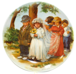 1985 Vintage Jeanne Down Here Comes the Bride Knowles Limited Edition Collector Plate