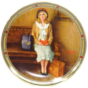 1985 Vintage Norman Rockwell A Young Girl's Dream Knowles Limited Edition Collector Plate