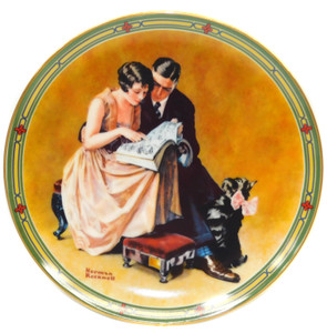 1985 Vintage Norman Rockwell A Couple's Commitment Knowles Limited Edition Collector Plate