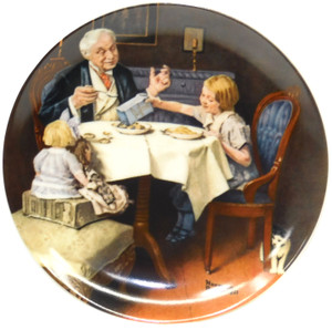 1985 Vintage Norman Rockwell The Gourmet Knowles Limited Edition Collector Plate