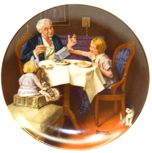 1985 Vintage Norman Rockwell The Gourmet Heritage Collection Knowles Limited Edition Collector Plate