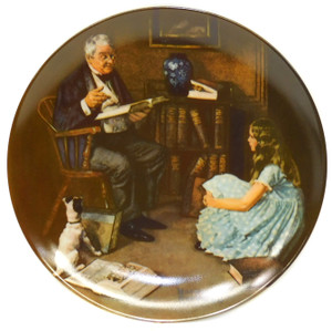 1984 Vintage Norman Rockwell The Storyteller Heritage Collection Knowles Limited Edition Collector Plate
