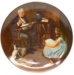 1984 Vintage Norman Rockwell The Storyteller Knowles Limited Edition Collector Plate