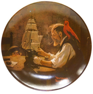 1980 Vintage Norman Rockwell The Ship Builder Knowles Limited Edition Collector Plate