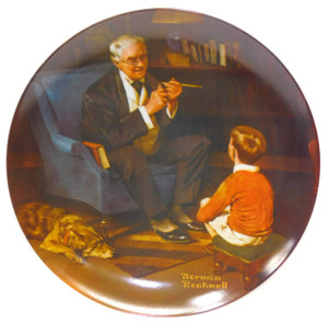 1982 Vintage Norman Rockwell The Tycoon Knowles Limited Edition Collector Plate