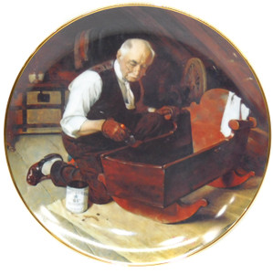 1987 Vintage Norman Rockwell Grandpa's Gift Knowles Limited Edition Collector Plate