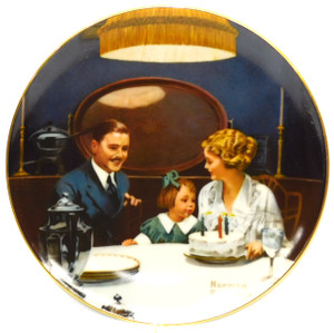 1984 Vintage Norman Rockwell The Birthday Wish Knowles Limited Edition Collector Plate