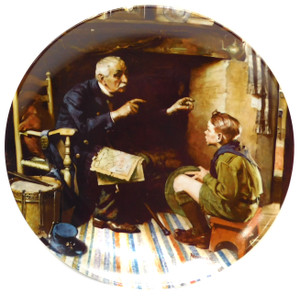 1988 Vintage Norman Rockwell The Veteran Heritage Collection Knowles Limited Edition Collector Plate