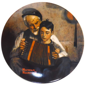 1981 Vintage Norman Rockwell The Music Maker Knowles Limited Edition Collector Plate