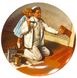 1983 Vintage Norman Rockwell The Painter Knowles Limited Edition Collector Plate