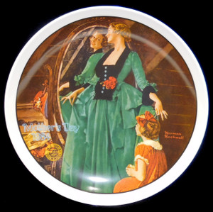 1984 Vintage Norman Rockwell Grandma's Courting Dress Knowles Limited Edition Collector Plate