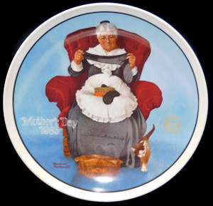1985 Vintage Norman Rockwell Mending Time Knowles Limited Edition Collector Plate