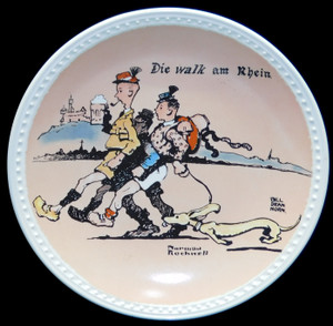 Vintage Norman Rockwell Die Walk am Rhein Newell Pottery Limited Edition Collector Plate