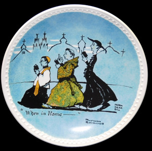 1982 Vintage Norman Rockwell When in Rome Newell Pottery Limited Edition Collector Plate