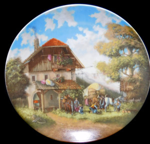 1986 Vintage Christian Luckel Bor der Schmiede Seltmann Limited Edition Collector Plate