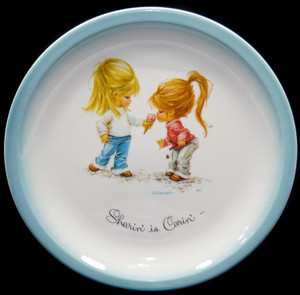 19725 Vintage G. Graudins Sharin' is Carin' American Greetings Gigi Collector Plate