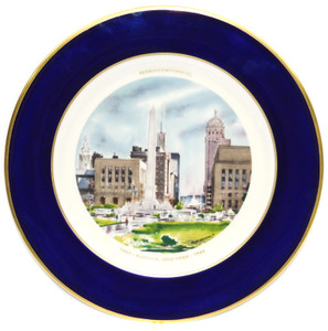 1982 Vintage Hugh Laidman Watercolor Buffalo NY Sesquicentennial Collector Plate