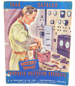 1940 Vintage P.R. Mallory & Co. Yaxley Electronics Components Parts Catalog